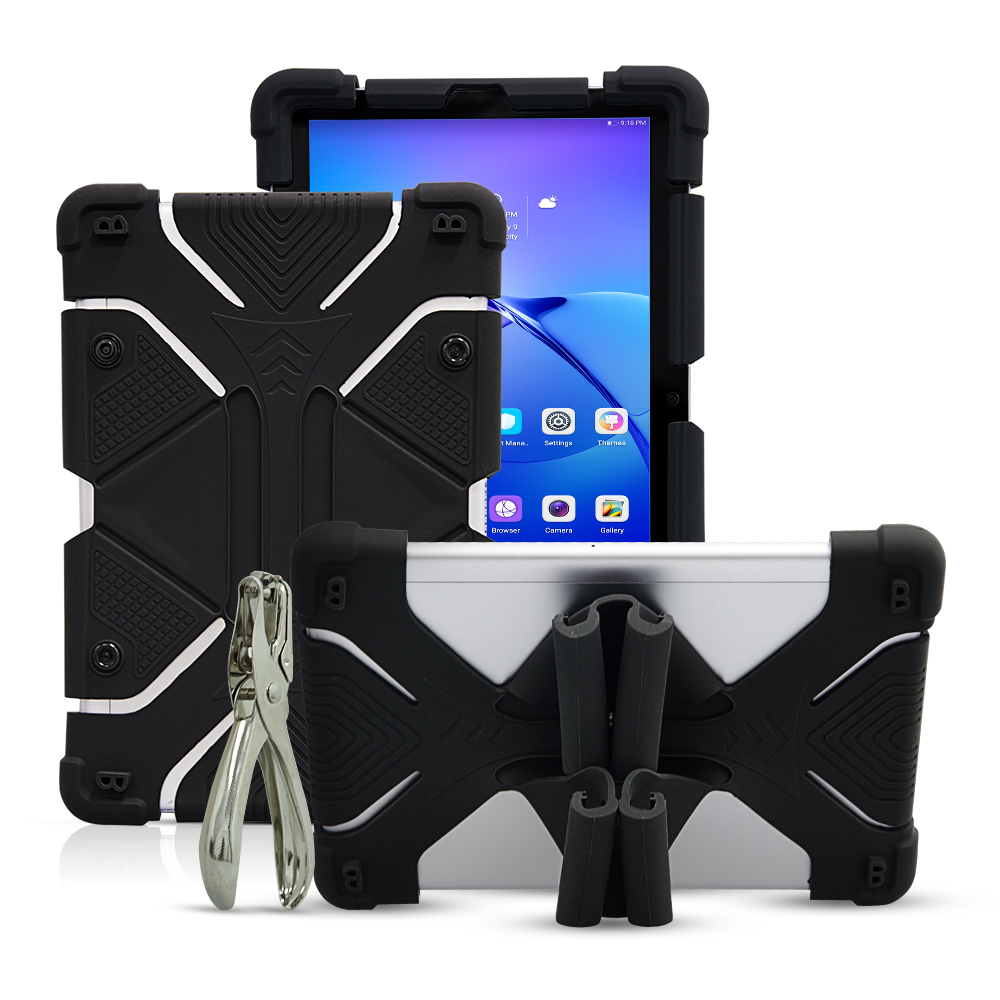 Universal Tablet Case for 8.9 10.1 for Huawei MediaPad T3 9.6 Silicone Shockproof Case for Samsung SM-T815 T820 9.7 with Puncher
