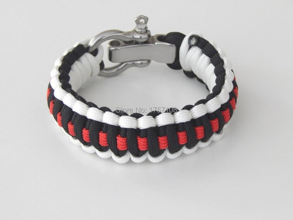 3 Color Paracord Bracelet With Buckle Instructions 550 Paracord