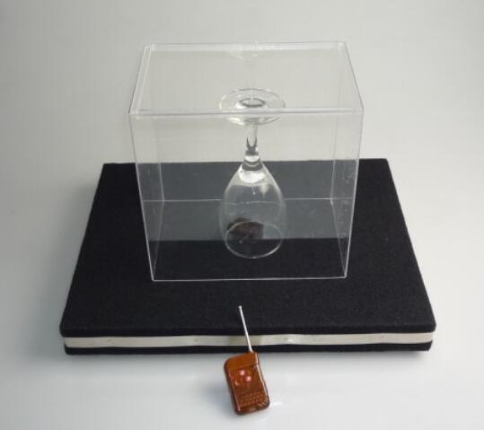 Разбития стекла Tray Pro-пульт дистанционного управления с органическим стеклянной крышкой фокусы, ментализм, сцена, иллюзия, трюк