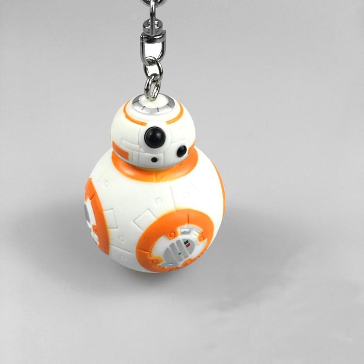 New BB8 model toys keychain BB-8 Robot toy Pendant kids toys Action figure R2-D2 figures Lightsaber Darth vader