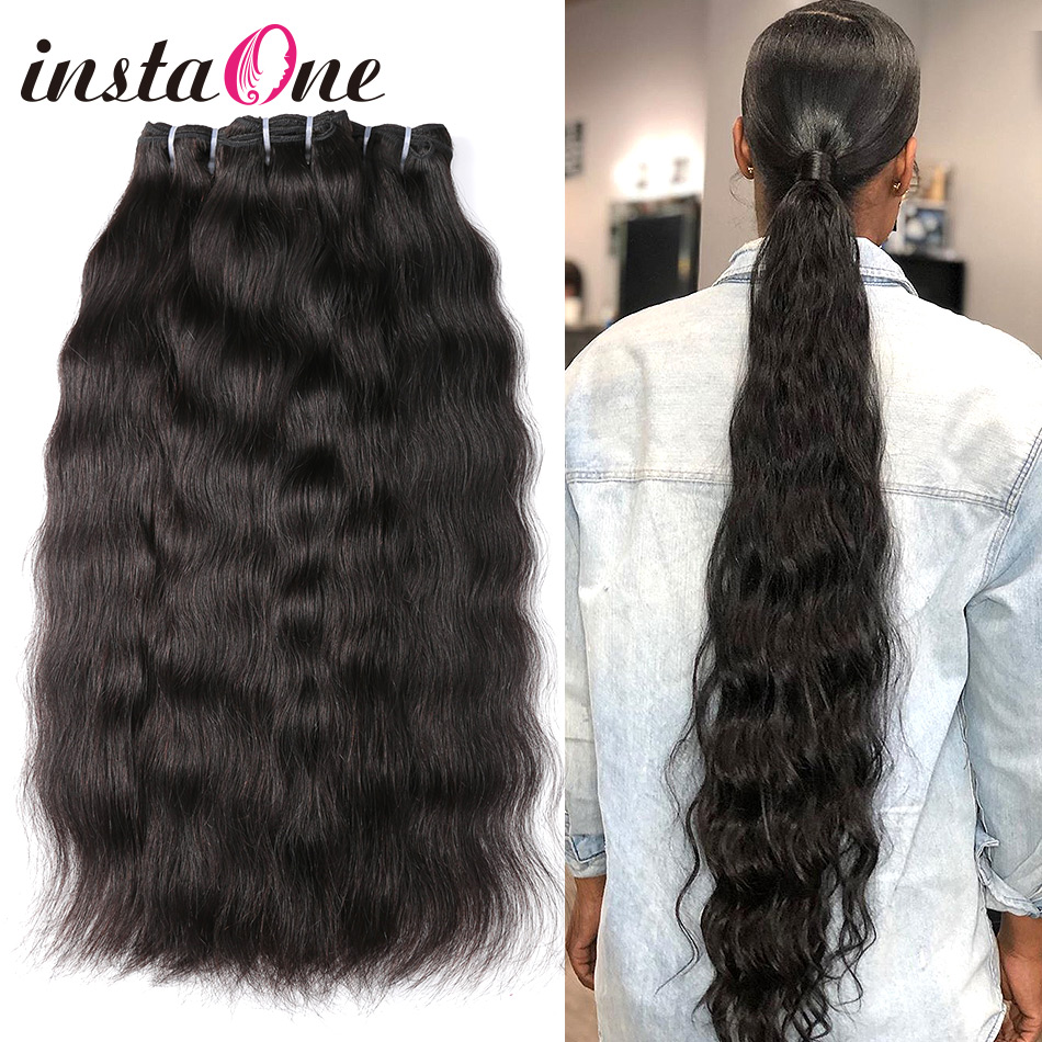 Instaone Hair 9A Raw Brazilian Virgin Hair Bundles Natural Straight 1/3/4bundles Deals 100% Human Hair Extension Natural Color