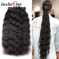 Instaone Hair 9A Raw Brazilian Virgin Hair Bundles Natural Straight 1/3/4bundles deals 100% Human Hair Extension Natural Color