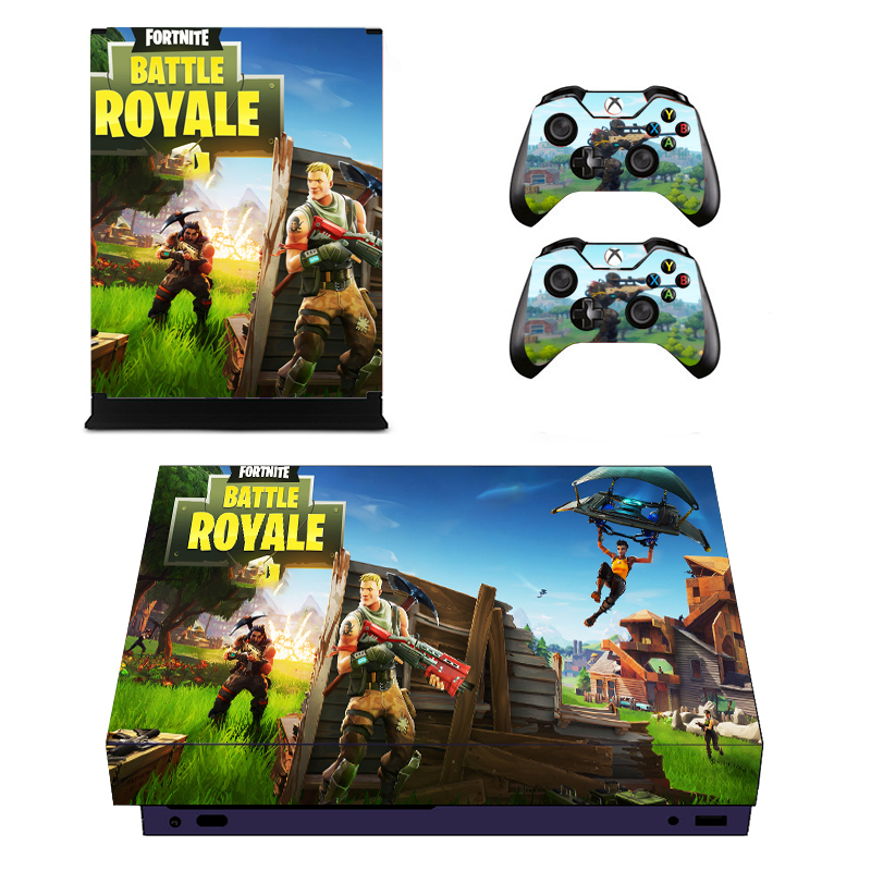Vinyl Skin For Microsoft Xbox One X Console And Controllers Sticker