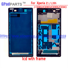 Touch For sony Ericsson Xperia Z1/Honami,SO-01F,C6943,C6903,L39h lcd display with touch panel screen +frame Digitizer Assembly