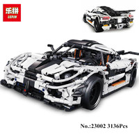 Presell Lepin 23002 3136Pcs Technic Series The MOC 4789 Changing Racing Car Set Children Educational Building