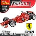 Decool 3335 bloques de construcción de Juguete F1 Formula Racing blockshigh calidad boy regalos 1:8 modelo de coche ladrillos autoblocantes 1242 unids envío gratis