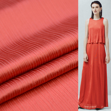 Special crinkle silk satin fabric 100% pure silk satin fabric deep red 14momme 114cm,SSC281