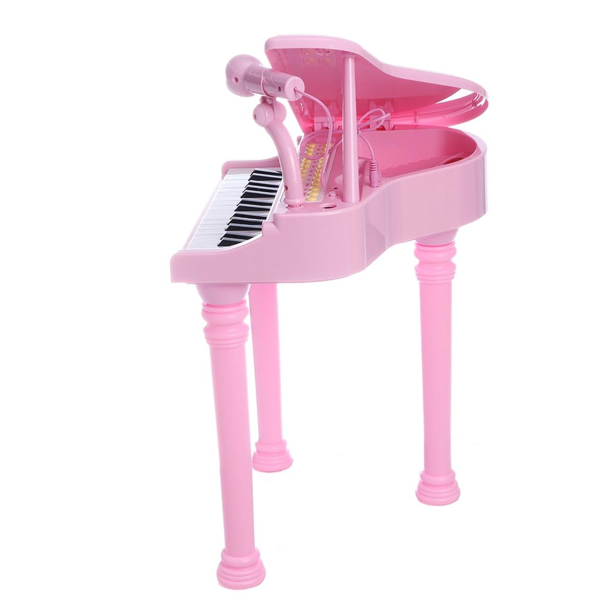 31 touches enfants Piano jouets clavier électronique Piano lumière Microphone apprentissage jouets Instrument de musique enfants cadeau 3 couleurs - 3
