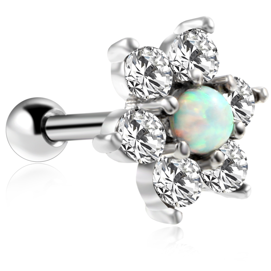 Opal Cartilage Ring