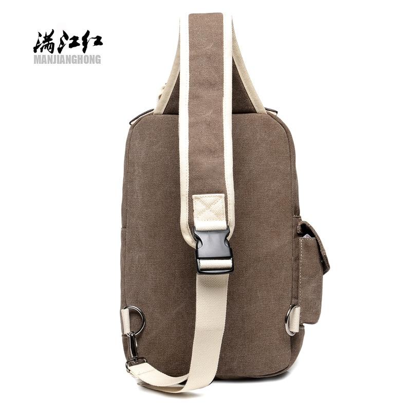 2018 new canvas bag leisure men's chest single-shoulder portable fashion multi-zip men's bags wholesale manufacturers 3