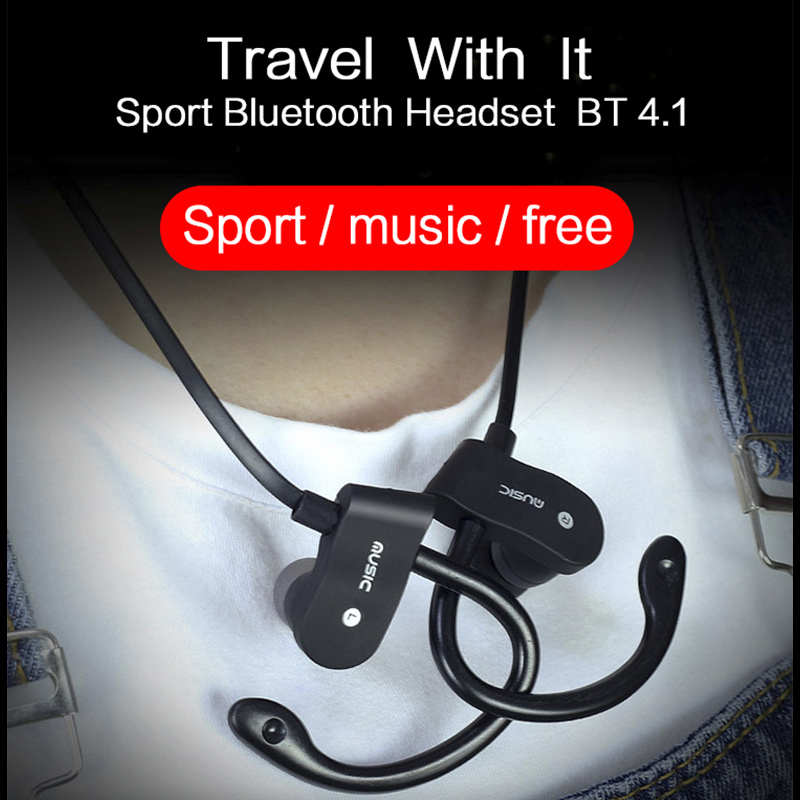Sport Running Bluetooth Earphone For Fly IQ445 Genius Earbuds Headsets With Microphone Wireless Earphones sport running bluetooth earphone for sony xperia e1 earbuds headsets with microphone wireless earphones