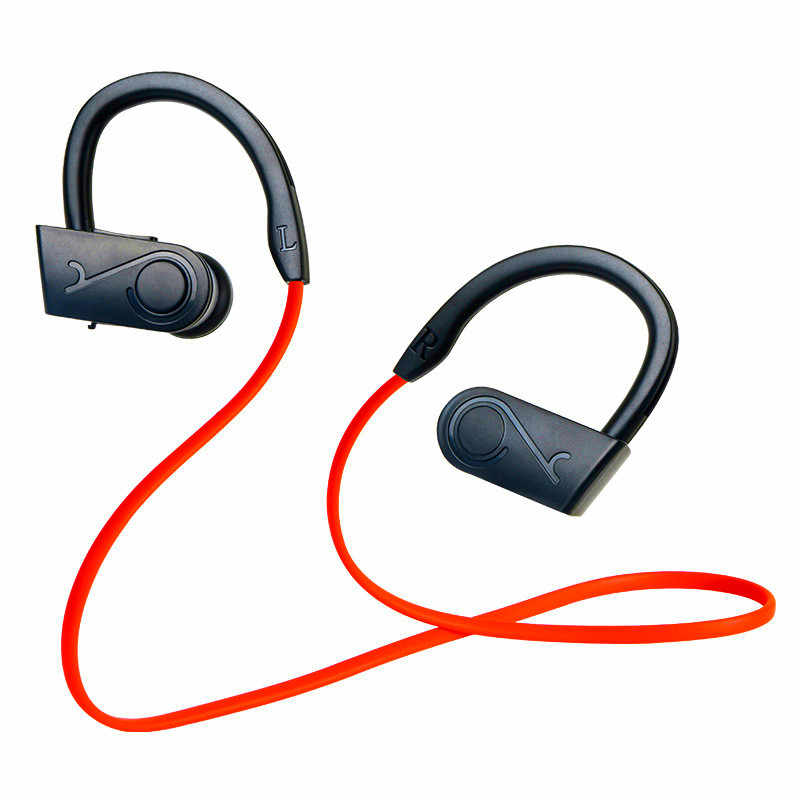 Bluetooth Earphone Wireless Headphone Olahraga Earphone Tahan Air Kebisingan Pengurangan Stereo Headset dengan Mikrofon untuk Ponsel