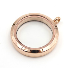 2018 Water Proof Floating Locket Rose Gold Stainless Steel Plain Twist Screw Glass For DIY Jewelry