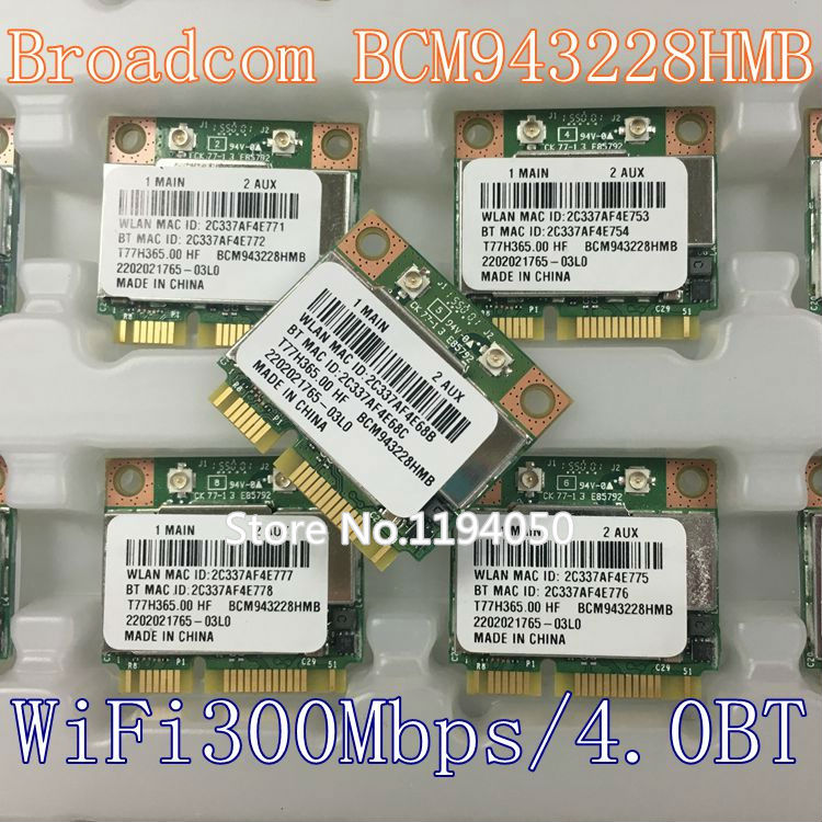 Noul Broadcom BCM943228HMB BCM43228 2.4Ghz / 5Ghz fără fir 802.11A / B / G / N și BT Bluetooth 4.0 Card MINI PCI-E WI Card MINI BCM943228