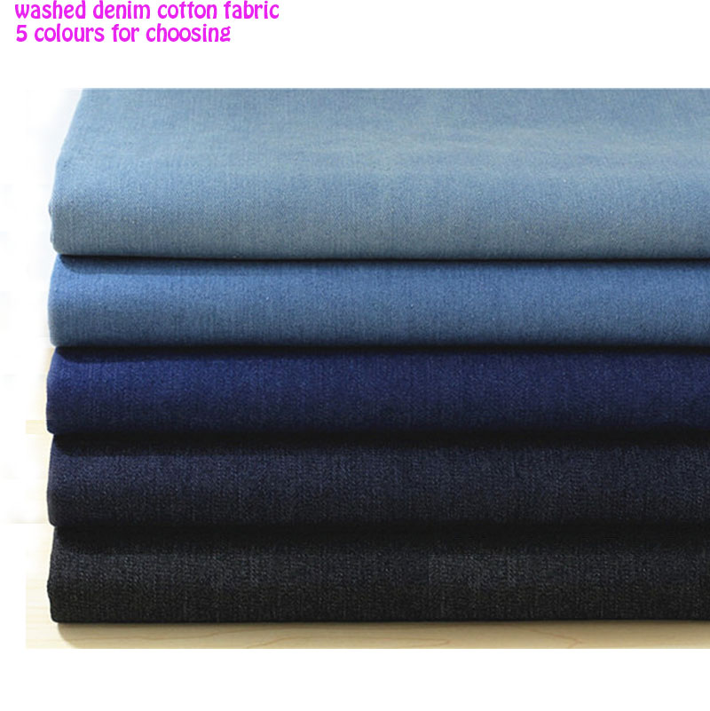 Good 135 50cm 1pc denim 100 cotton fabric washed thick for Cotton sewing material