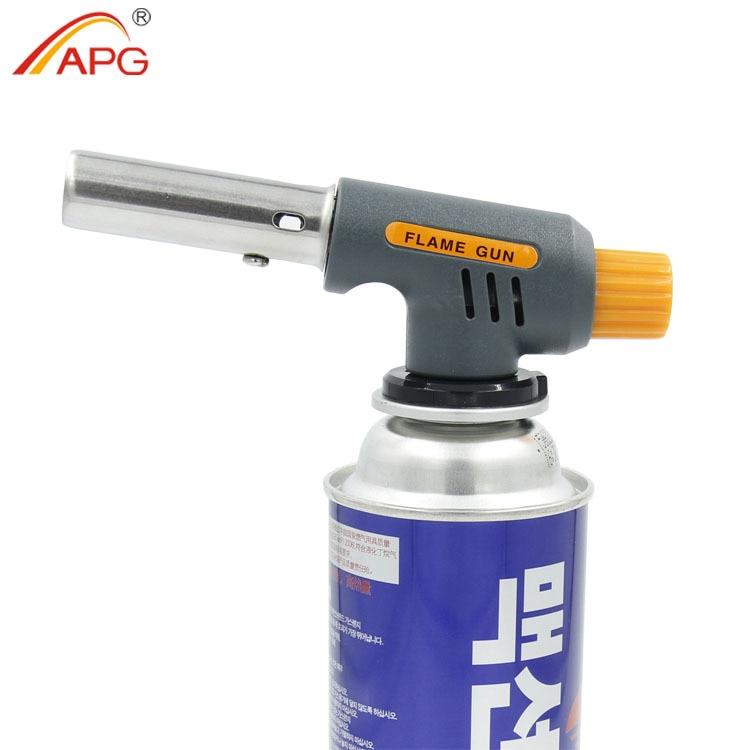 APG augstas temperatūras metināšanas degļa nerūsējošā tērauda liesmas pistole BBQ
