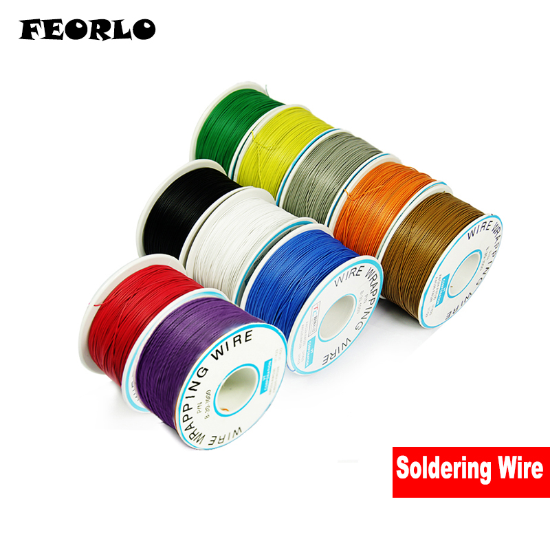 FEORLO 250MM PCB Line Single Core Tin Plated Copper Wire Ok Line/electrical Wire FOR Laptop Motherboard PCB Connect Welding