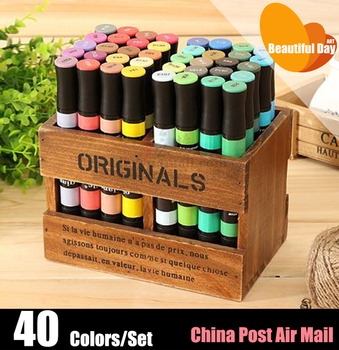 New Arrival,Qiancaile alcohol based art marker pen,40 colors/set with a free case