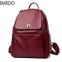 Casual Antitheft Backpack Female High Quality Soft Leather Rucksacks for Women Travel Shoulder Bag Mochilas School Big Daypack