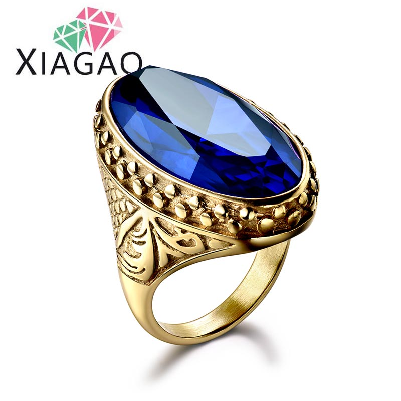 XIAGAO Military male finger font b ring b font United States Navy army Stainless steel men