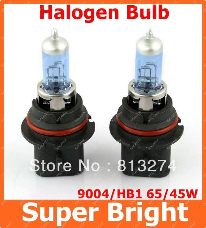 2 X 9004 case for Philip type new super white halogen car headlight bulbs halogen xenon