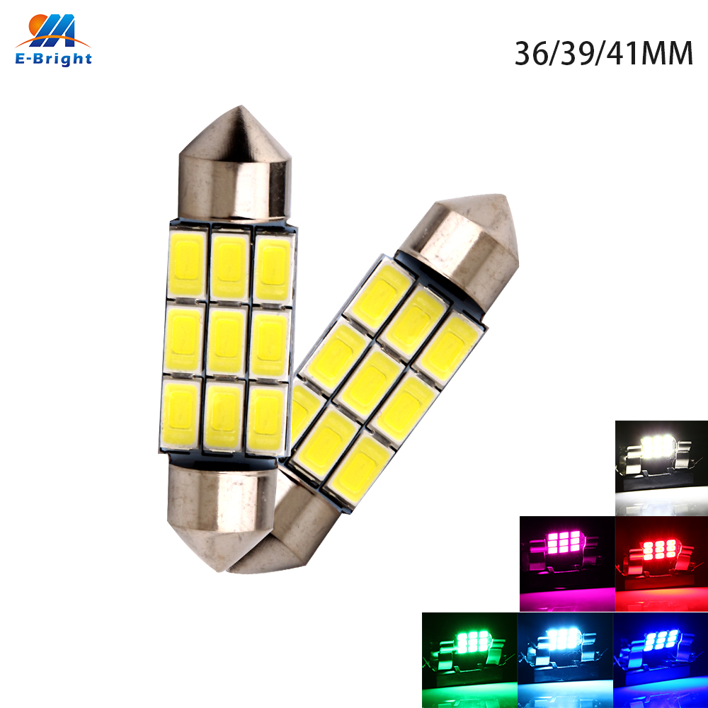 YM E Bright 200X Festoon Canbus C5W 5630 9 SMD 9 Led Error Free Dome Light