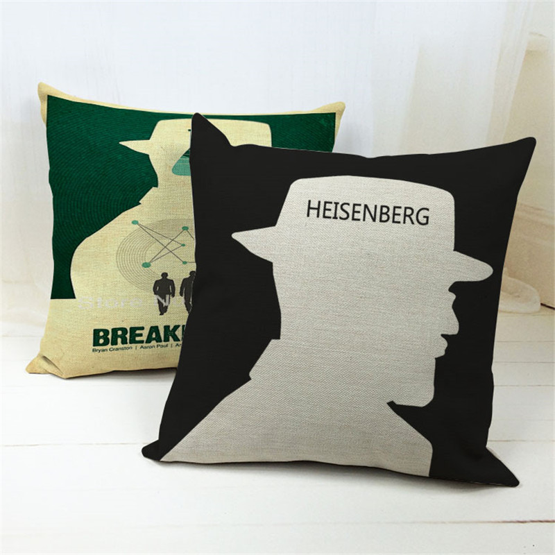 Hersenberg Covers Polyester Cushion Cover Breaking Bad Pillowcase