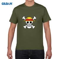 GILDAN in puro cotone colletto tondo T-Shirt one piece maglietta uomini homme anime barba Bianca Monkey. D. Luffy Anime Moda camiseta