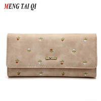 Leather Wallet Women Luxury Brand Womens Wallets And Purses Bag Long Clutch Bag Embroidered Designer High