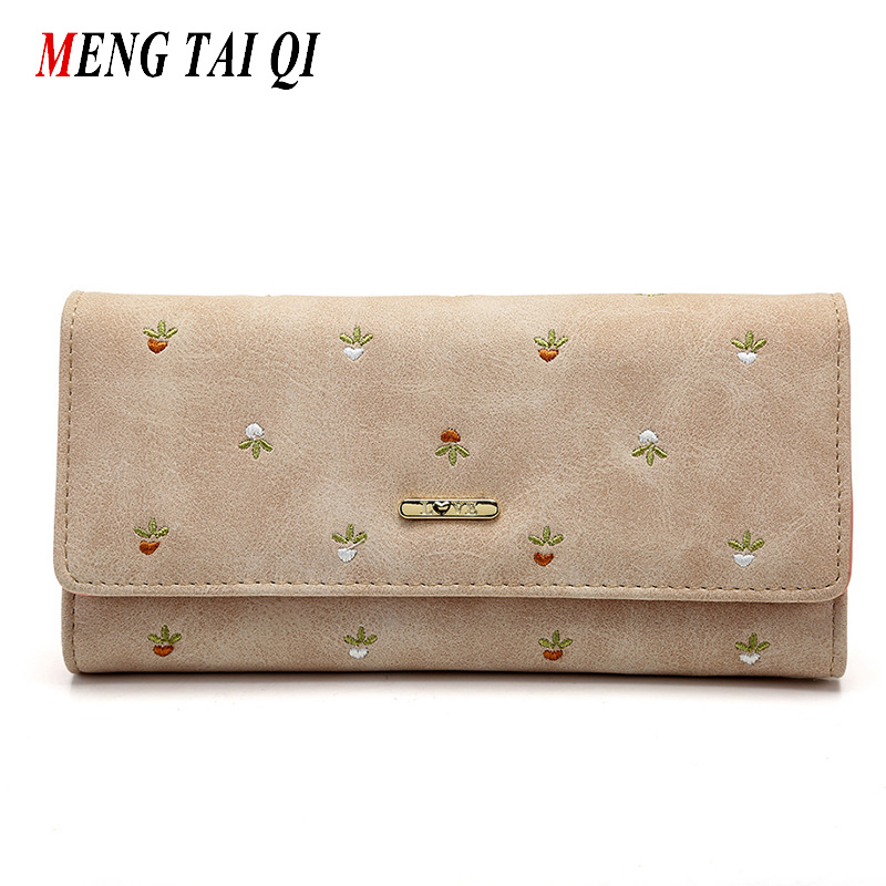Leather wallet women luxury brand womens wallets and purses bag long clutch bag embroidered designer high quality card holder 5