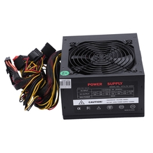 170-260V Max 600W Power Supply Psu Pfc Silent Fan 24Pin 12V Pc Computer Sata Gaming Pc Power Supply For Intel Amd Computer Eu 400w atx pc computer power supply desktop gaming psu active pfc 120mm fan 170 264v power supplys for div computer