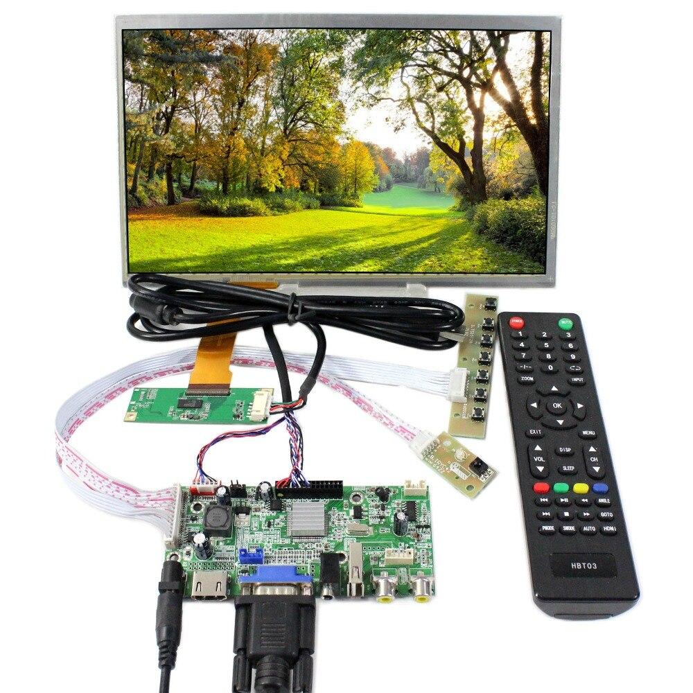 HDMI VGA AV USB LCD Controller Board With 10.1 1366x768 Capacitive Touch LCD PanelHDMI VGA AV USB LCD Controller Board With 10.1 1366x768 Capacitive Touch LCD Panel
