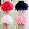 Nueva moda tutú faldas bebé de la bailarina falda de los niños de la gasa mullida pettiskirts niños Hallowmas ocasional falda del color del caramelo