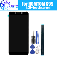 Homtom s99 display lcd + de tela toque 100% original testado lcd digitador vidro substituição do painel para homtom s99|LCDs de celular| |  -