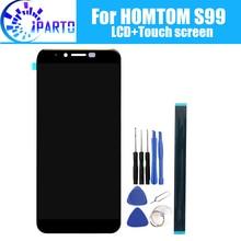 Homtom s99 display lcd + de tela toque 100% original testado lcd digitador vidro substituição do painel para homtom s99