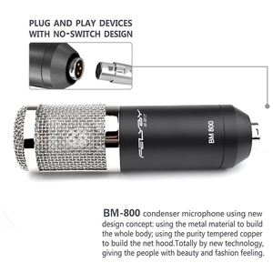 Image 3 - HOT! FELYBY bm 800 professional recording Condenser microphone set for computer with Phantom power and Multi function sound card