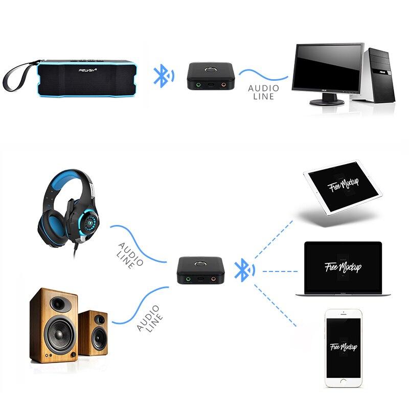 4.0 récepteur sans fil Bluetooth 3.5 MM récepteur Audio stéréo récepteur de musique Bluetooth adaptateur Audio transmetteur Bluetooth - 2