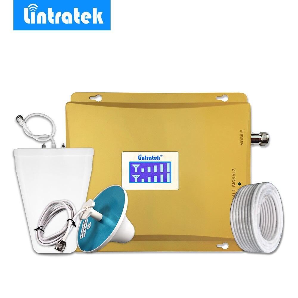 Répéteur Lintratek 3G 2100 MHz 900 MHz amplificateur de Signal Mobile GSM 900 3G UMTS 2100 amplificateur de Signal de téléphone portable ensemble d'antenne Omni #35