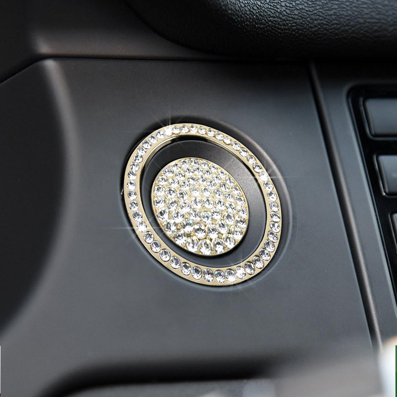 lsrtw2017 diamond car start engine button trims for land rover discovery sport 2014 2015 2016 2017 2018 2019 in Interior Mouldings from Automobiles Motorcycles