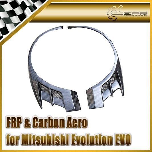 For Mitsubishi Evolution EVO 8 9 VTX Cyber Carbon Fiber Front Over Fender Wide Arch Flares