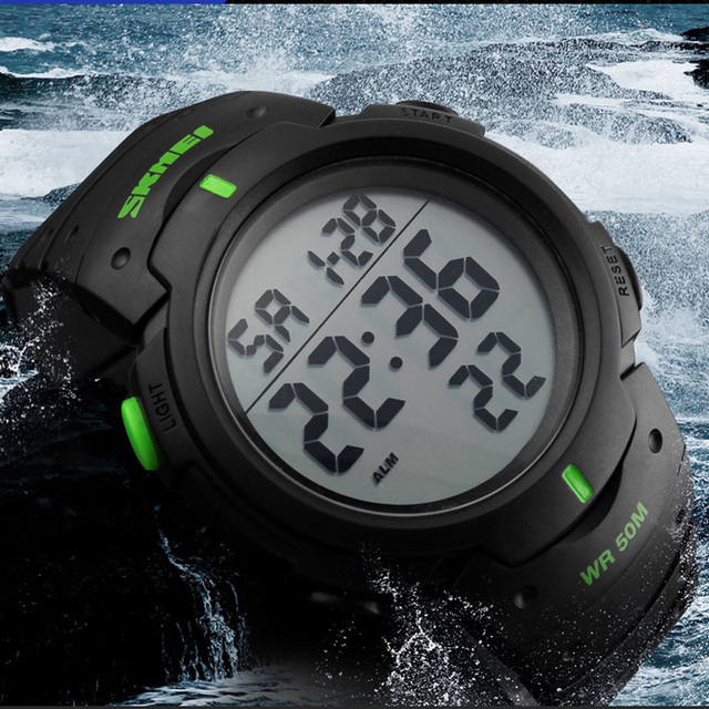2017 Luxury Brand Mens Sports Watches Dive Digital LED Military Watch Men Fashion Casual Electronics Wristwatch Hot Clock Skmei