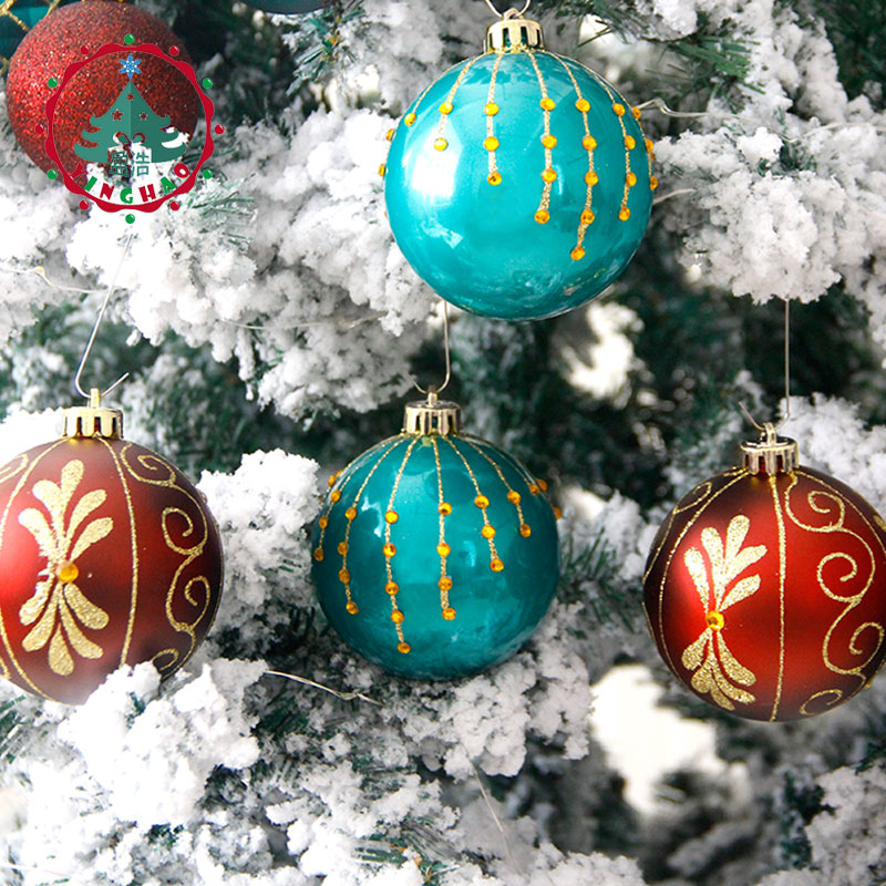 inhoo 2017 christmas tree decoration ball ornaments pendant accessories 8cm red green white gold balls christmas for home party in ball ornaments from home - Christmas Tree Accessories
