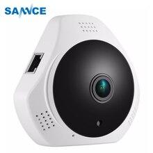 Панорамная ip камера с рыбий глаз 360 градусов 960P HD, беспроводная камера безопасности 1,3 МП и двусторонняя аудиосвязь, ночное видение, обнаружение движения