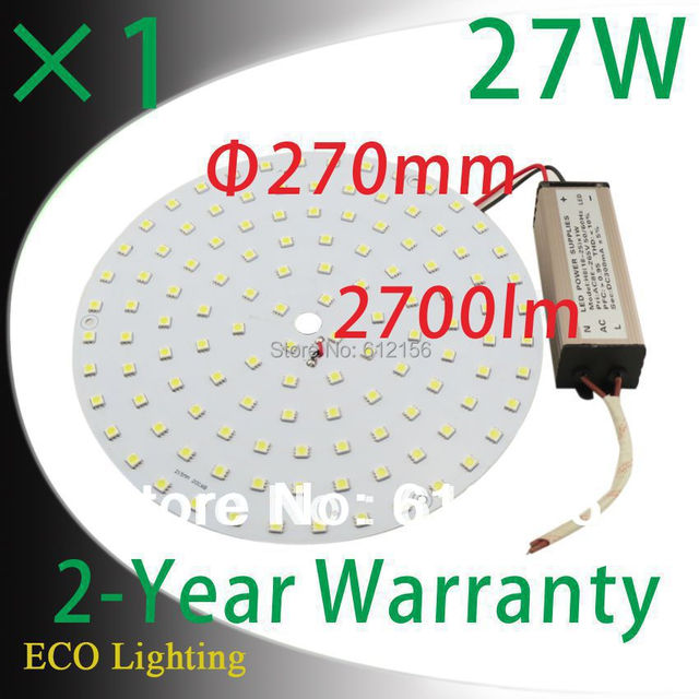 Free Shipping + 27W 110V/220V Magnetic LED Plate Disc Lights  Led Ceiling  Lights Board Replace to 55W CFL Lights