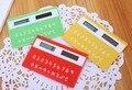 1 unid caramelo color al azar mini tarjeta portable papelería calculadora portátil calculadora de la Tarjeta ultra-delgada calculadora De Energía Solar