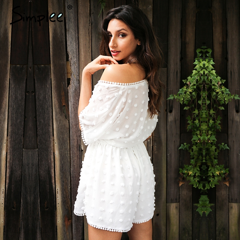 657768f11f9 Simplee Perspective white chiffon jumpsuit romper women Sexy deep v neck  beach party overalls Summer streetwear sashes playsuits - TakoFashion -  Women s ...