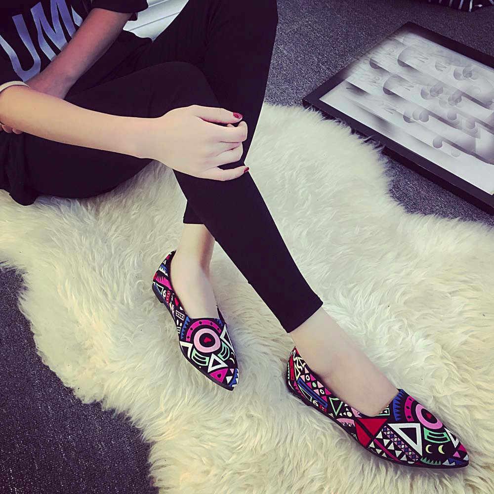 Giày đế bằng Nữ Nữ Nhiều Màu Tất Cả Các Mùa Ba Lê Trượt Trên Căn Hộ Cho Nữ Thời Trang Cho Nữ Bé Gái Giày