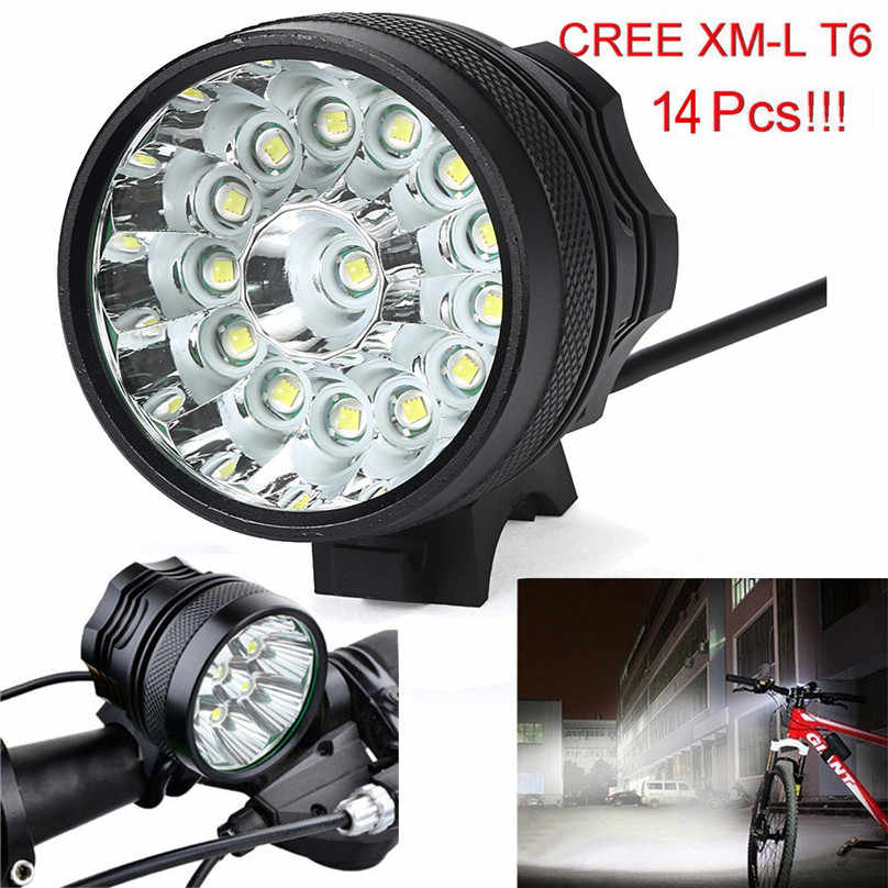 34000/32000 Lumens 14x/13x T6 LED Bicycle Lamp Bike Light Front Headlight 3 Modes Outdoor Camping Hiking Light Headlamp 40OT11