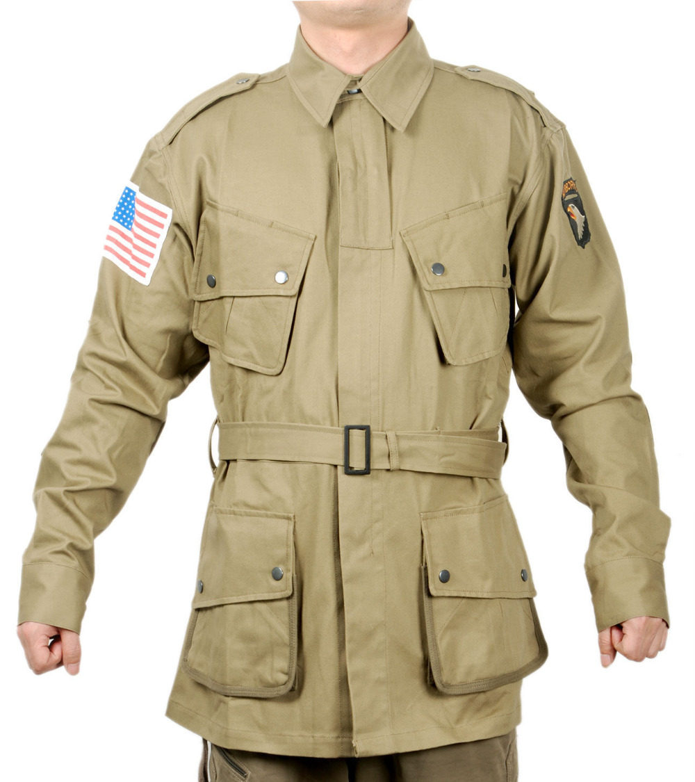 WWII US ARMY SOLDIER M1942 M42 AIRBORNE PARATROOPER UNIFORM MILITARY JACKET IN SIZES World military Store