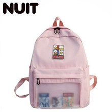 Female Designer Classic Nylon Back Pack Bagpack Casual School Backpacks For Teenagers Students Schoolbag